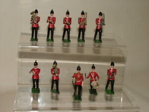 BRITAINS VINTAGE MILITARY SOLDIERS EARLY BAND OF THE LINE #27 X10 PCS BUNDLE