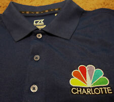 Mens Charlotte WCNC News TV Peacock Embroidered Golf Polo Shirt CUTTER & BUCK