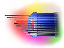 10 Wolframelektroden Rainbow Set 2,4 x175mm WIG Tungsten Wolfram Elektrode Nadel