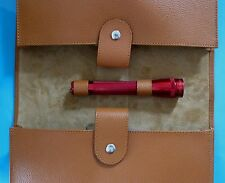 FERRARI 308/328/348/355/360/430/456/550 LEATHER HANDBOOK HOLDER/RED/MAGLITE