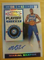 MARIAL SHAYOK AUTO RC 2019-20 Panini Contenders /99 Playoff Ticket #147 ROOKIE
