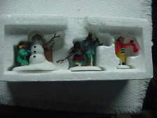 """, Department 56 Heritaqge Village Series """"Playing In The Snow"""",No. 5556-5"""