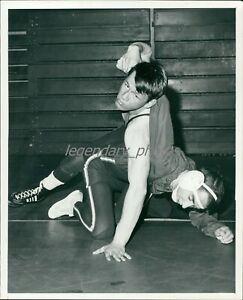 1960s Wrestling Action Original News Service Photo