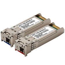 40km SFP+ WDM BiDi 10G 10gb SFPPlus 40 km transceiver Cisco compatible 2 modules
