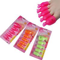5x Plastic Toe Nail Art Soak Off Clip Cap UV Gel Polish Remover Wrap Manicure RF