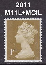 2011 Machin 1st Class Gold SG U3016 M11L+MCIL Very Fine Used VFU Stamp