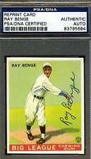 Ray Benge Psa/dna Signed 1933 Goudey Reprint Authentic Autograph