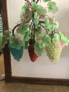 Beautiful Czech glass grape chandelier