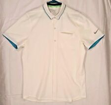 Nike Mens Golf Shirt MM Fly Button Up 725509 Aero Sz M Slim