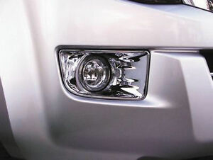 CHROME FOG LIGHT LAMP COVER TRIM PICKUP HOLDEN ISUZU D-MAX DMAX BLADE 12-13-14