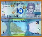 Cayman Islands, $1, 2018 (2020), P-New QEII, Q/2 UNC > Commemoraive 60 years