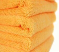 12 ORANGE MICROFIBER TOWELS NEW CLEANING CLOTHS BULK 16X16 MANUFACTURERS SALE