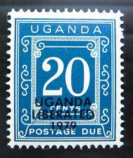 Uganda 1973 20 c affrancatura dovuta VETRATO Carta comune G14 prezzo di vendita bn1100