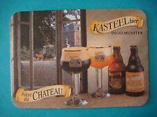 Beer Coaster: Brouwerij Van Honsebrouck KASTEEL Bier ~ Ingelmunster BELGIUM