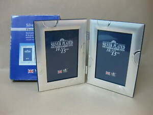 Silver Plated Double Photo Frame ~ Hand Polished Tarnish Resistant ~ Mil London
