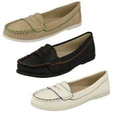Chaussures plates et ballerines synthétiques blanches pour femme