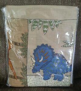 Twin Bed Skirt & Standard Pillow Sham Case Set Dinosaur