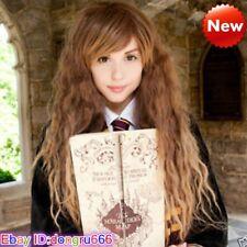 Hermione granger corn thermal long brown wavy anime wigs
