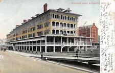ATLANTIC CITY, NJ  New Jersey   HADDON HALL & Street View   1908 UDB Postcard