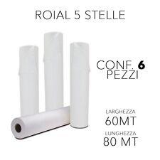 Ro.ial drap de lit usage unique sanitaire/esthétique mt 60 x 80 boîte 6 rouleaux