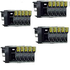 20 schwarz Druckerpatronen für Brother DCP-195C 165C 375CW MFC-250C LC980 LC1100