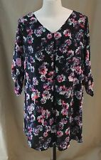 Decree, 1X Jrs Plus, Floral Print Dress & Slip, New with Tags
