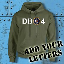 Spitfire Hoodie Target Personalised Initials Military WW2 RAF MOD Lancaster Hood
