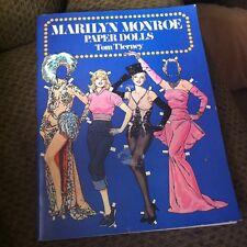 MARILYN MONROE PAPER DOLLS BY TOM TIERNY 1979 UNCUT BOOK -  DOVER MOVIE STAR