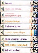 Il Commissario Maigret RACCOLTA  9 Episodi (1958-62)  VHS  VideoRai  GINO CERVI