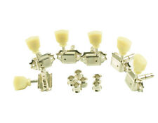 Guitar Gotoh Tuning Pegs Vintage Style Locking Tuners 3+3 Nickel Finish Les Paul