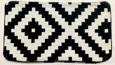 "Ikea LAPPLJUNG RUTA Pillow Lumbar Cushion Cover White Black 16x26"" (RF919)"