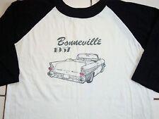 Vintage Pontiac Bonneville 1957 Convertible Raglan Sleeve Soft 80's T Shirt L