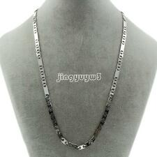 Fashion Men's Silver Tone Stainless Steel Figaro Chain Necklace 15mmX5mm X1m21''