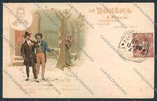 Bohème Puccini Giacosa Opera postcard cartolina E3370 SZL