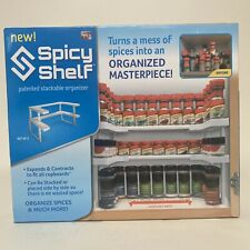 SPICY SHELF- Patented Stackable Organizer for Kitchen Cabinets Brand New