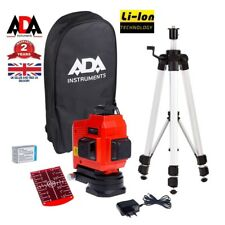 12 Line 3D 360° Laser Level Cross Self Leveling COMPLETE SET TRIPOD Measure ADA