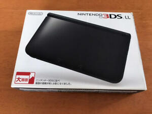 Nintendo 3DS LL XL Black With box With charger free shipping ☆
