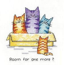 HERITAGE CRAFTS ROOM FOR ONE MORE CATS COUNTED CROSS STITCH KIT PETER UNDERHILL