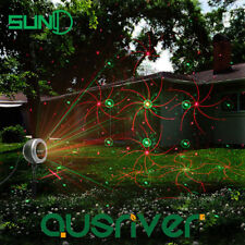 SUNY 8patterns Waterproof Laser Light Projector Outdoor Garden Xmas Party Lamp