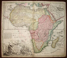 CARTE ORIGINALE D'AFRIQUE Totius Africae nova repraesentatio, HOMANN 1720