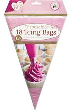 12 Disposable Large Size Icing Piping Pastry Bags Cake Tools Sugarcraft Cupcake