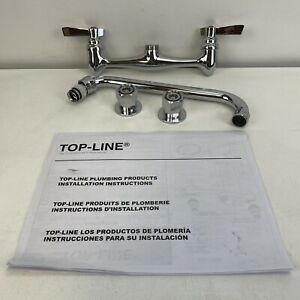 """Top-Line 8"""" OC Wall Mount Faucet With 10"""" Swivel Spout"""