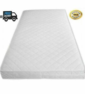 Baby Toddler Cot Bed Mattress Quilted Breathable Extra Thick 120 X 60 X 10 CM