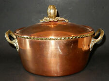 Solid Copper 8-quart Stew pot, Tin Lined ITALY  103 TWH