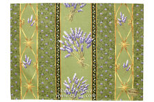 Le Cluny Acrylic-Coated Provence Placemats Set of 2 - Lavender Green