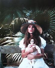 PRETTY BABY clipping young Brooke Shields color photo 1978 poster art w/ doll