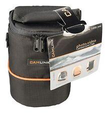 CAMLINK Camera Lens Case/Bag 105 x 130 x 100 mm Black/Orange CL-OB20