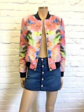 Finders Keepers Stunning Fluoro Floral Bomber Size S/M