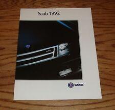 Original 1992 Saab Full Line Sales Brochure 92 900 9000