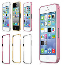 For Apple iPhone 4 4S 5 5S Glossy Bumper Hard Case Cover Aluminum Frame Thin PAT